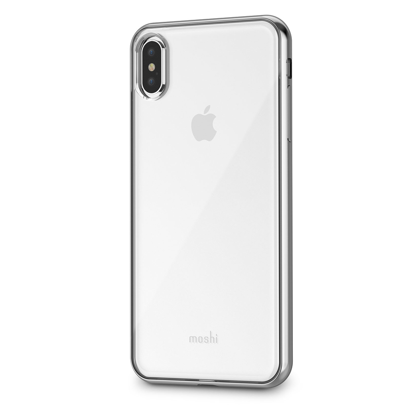 new concept ebcf5 5c02b Moshi Vitros Case Jet Silver for iPhone XS Max