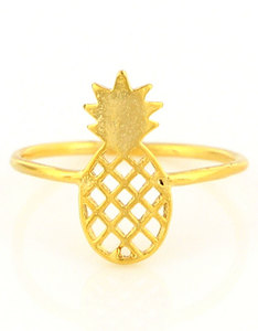 Oh Hello Friend Pineapple Gold Ring