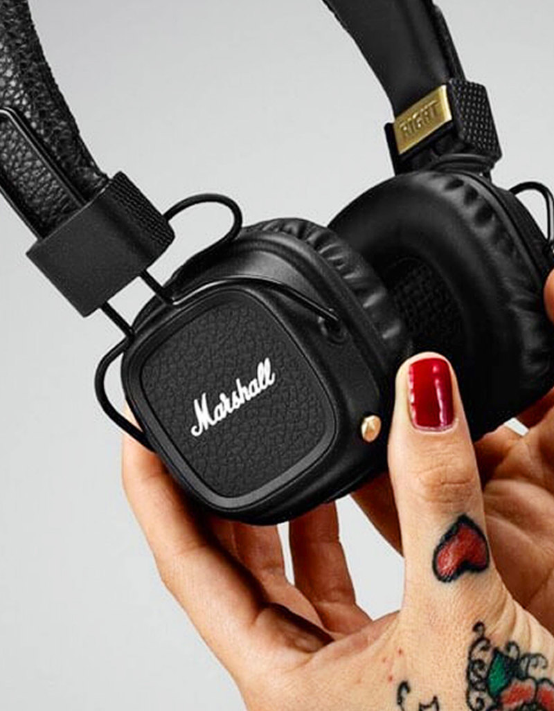 Marshall Major Ii Black Bluetooth Headphones On Ear Headphones