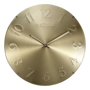 Nextime Elegant Dome Wall Clock Gold