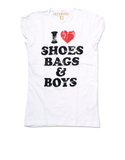 I Love Shoes White Women Tshirt M