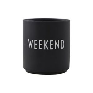 Design Letters Favourite Cup Weekend Black