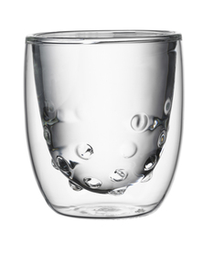 QDO Water Double Wall Transparent Glass 75ml [Set of 2]