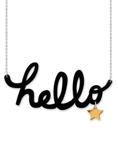 Little Moose Chit Chat Hello Necklace
