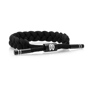 Rastaclat Level 9 Braided Men's Bracelet Black/White