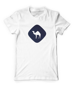 Jo-Bedu Camel Crossing White Men's T-Shirt L