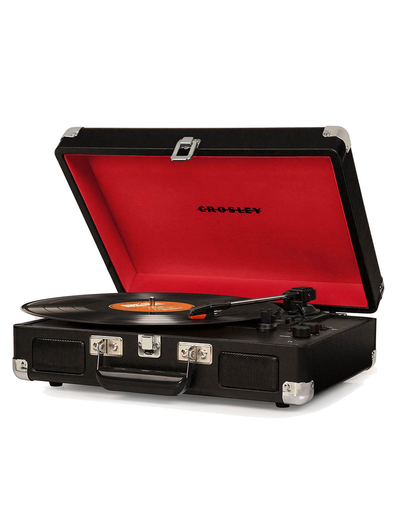 Crosley Cruiser Black Deluxe Portable Turntable
