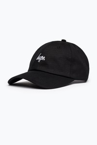 c0b11592b75 Hype Black with White Script Dad Cap