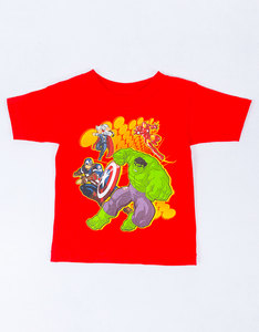Mad Engine Marvel Four Allies Red Toddler T-Shirt