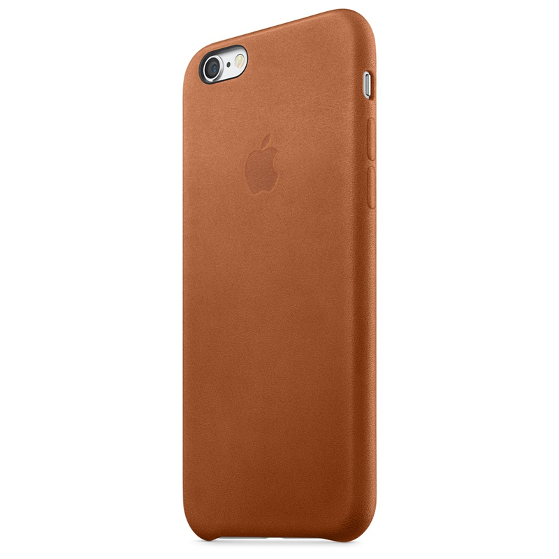 Apple Leather Case Saddle Brown iPhone 6S