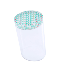 Silsal Geometric Slanted Acrylic Cylinder Container [Large]