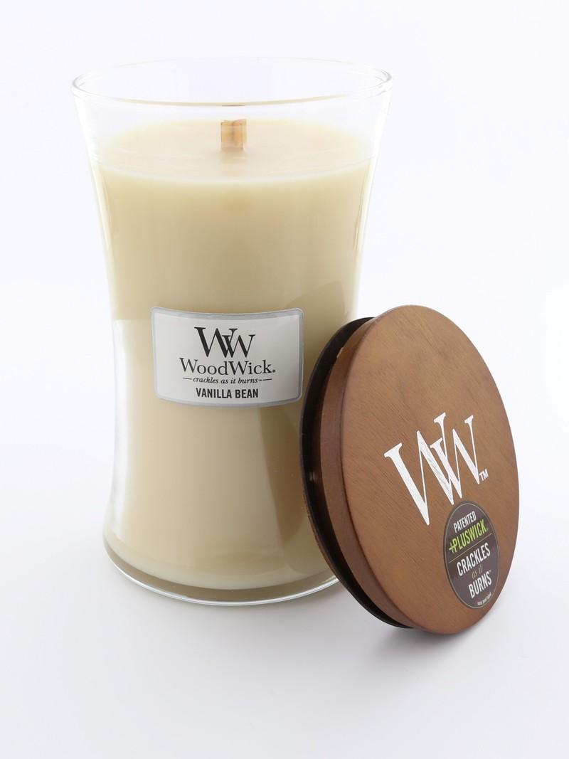 Woodwick Large Candle Jar Cream Vanilla Bean | Candles ...