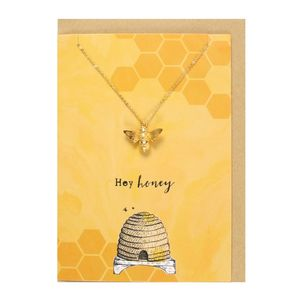 Something Different Hey Honey Necklace and Card Set