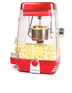 NOSTALGIA KETTLE POPCORN MAKER RETRO RED