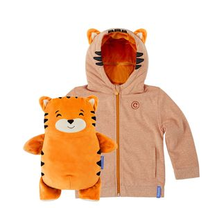 Cubcoats Tomo The Tiger Unisex 2-In-1 Hoodie