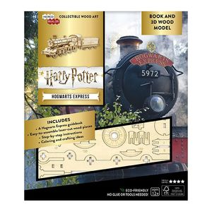 Incredibuilds Harry Potter Hogwarts Express Book And 3D Wood Model