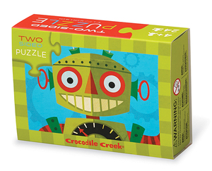 Crocodile Creek Two Sided Puzzle Robots