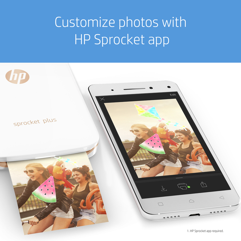 HP Sprocket Plus ZINK Photo Printer
