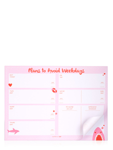 Skinny Dip Plans To Avoid Weekdays Planner Pad