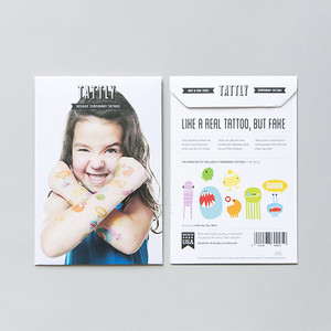 Tattly Monster Temporary Tattoo Set