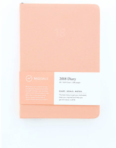 MiGoals Minimal Diary Soft Cover A5 Coral 2018 Planner