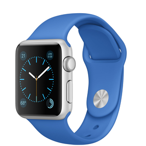 Apple Watch Sport 38mm Silver Aluminium Case With Royal Blue Band