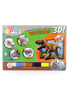 Pop Art Sculpt-by-Numbers Art Set Dinosaurs [4 Colors]