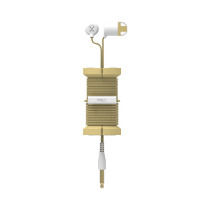 Philo Spool Metal Gold Earphones with Mic & Cable Organizer