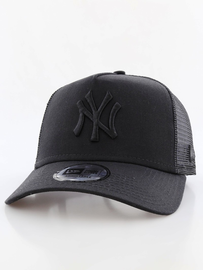 New Era Clean Trucker NY Yankees Black Black Cap  144afa68860