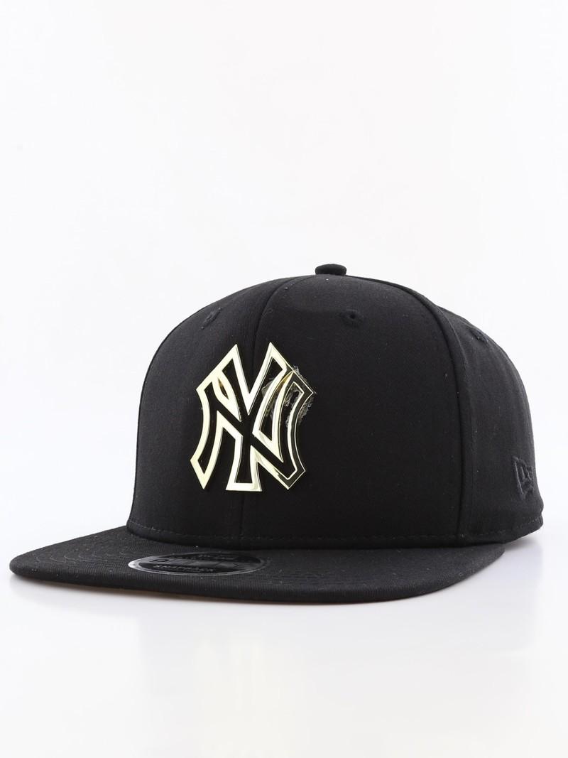 8b5e82e8ac121 New Era Metal Badge Ny Yankees Men s Cap Black M L