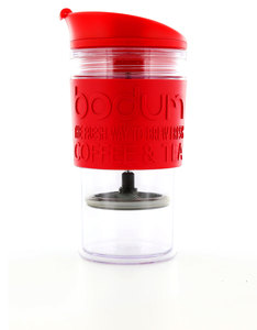 Bodum Travel Press DW With Extra Lid 0.35l Red