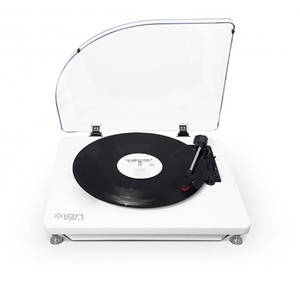 ION Pure LP White Usb Conversion Turntable For Mac & Pc