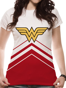 CID Wonder Woman Cheer Leader Logo Sublimated Women's T-Shirts White