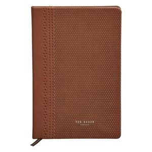 Ted Baker A5 Notebook Brogue Cognac