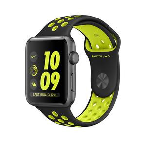 Apple Watch Nike+ 42mm Sport Band Black/Volt Space Grey Aluminium Case