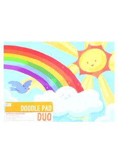 Ooly Doodle Pad Duo Sketchbooks Sunshine And Raindrops [Set of 2]