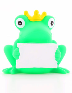 Lilalu Rubber Frog Duck With Greeting Sign