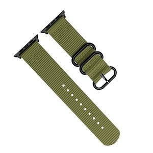 Promate Nylox-38 Green Trendy Nylon Fiber with Metal Deployment Buckle for 38mm Apple Watch