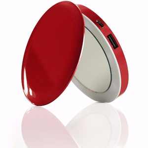 Hyper Pearl Compact Mirror Red + 3000mAh Power Bank