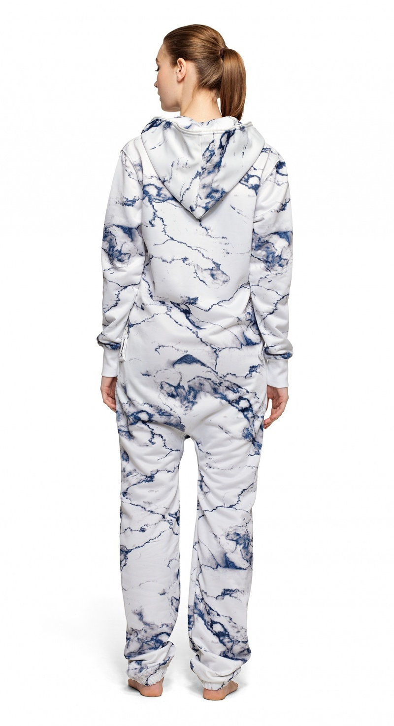 Onepiece Marble Unisex Jumpsuit Bright White