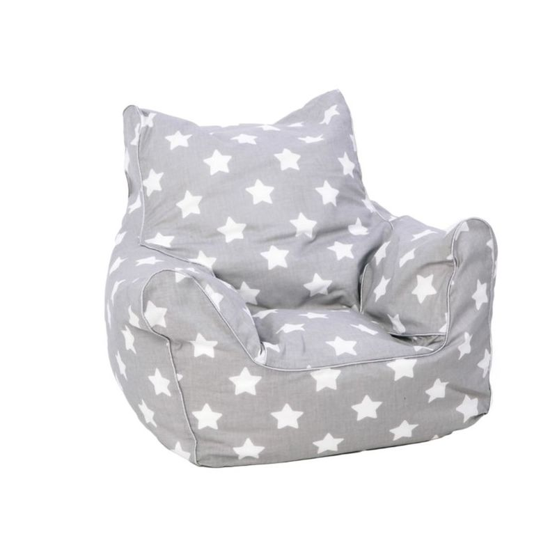 Marvelous Delsit Bean Chair Grey With White Stars Pdpeps Interior Chair Design Pdpepsorg