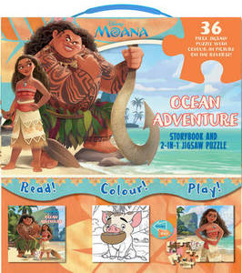 Disney Moana Ocean Adventure: Storybook and 2-in-1 Jigsaw Puzzle