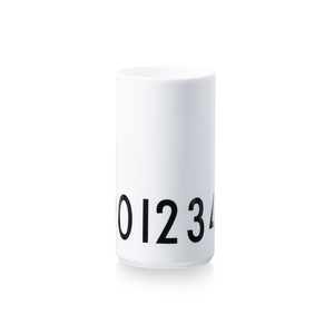 Design Letters Small Vase 0-9 White