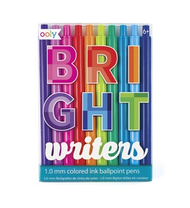 Ooly Bright Writers Colored Ballpoint Pens [Set of 10]
