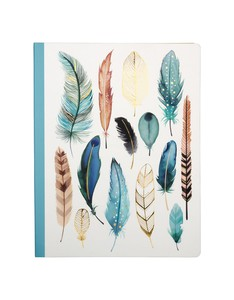 Galison Feathers Deluxe Spiral Notebook