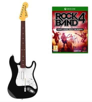 Madcatz Rock Band 4 Wireless Fender Stratocaster Software Bundle Black Xbox One