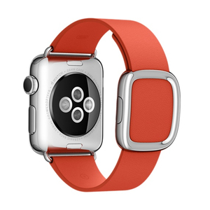 Apple Red Modern Buckle Medium Apple Watch 38mm