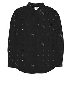 Dedicated Shirt Comets Black Button Down Shirt