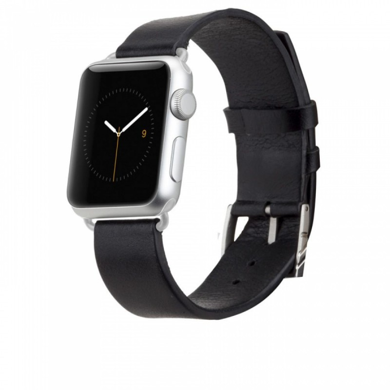 Casemate Signature Leather Band Black Apple Watch 42mm