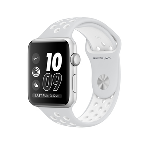 Apple Watch Nike+ 42mm Sport Band Platinum/White With Silver Aluminium Case